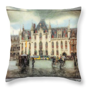 Bruges, Belgium Throw Pillow