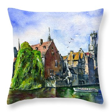Bruges Belgium Throw Pillow