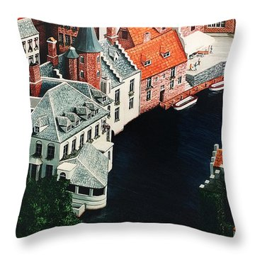 Brudges, Belgium Throw Pillow