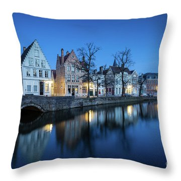 Magical Brugge Throw Pillow by JR Photography