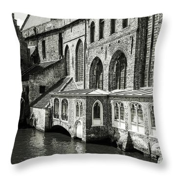 Bruges Medieval Architecture Throw Pillow