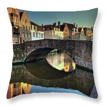 Bruges Twighlight Throw Pillow
