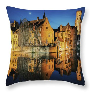 Brugge Throw Pillow by JR Photography