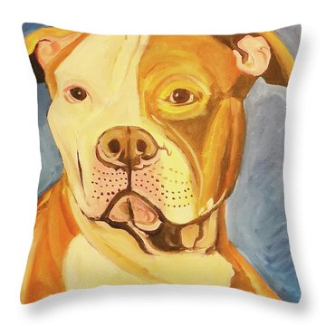 Throw Pillow featuring the painting Bruiser by John Keaton