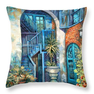 Brulatour Courtyard Throw Pillow