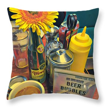 Brunch At Counter Cafe Throw Pillow