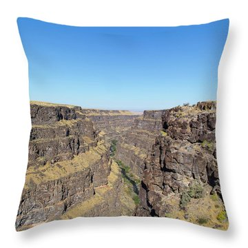 Bruneau Canyon Overlook, Idaho Throw Pillow