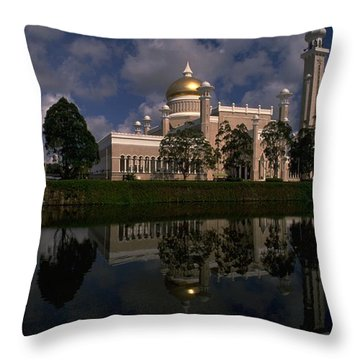 Brunei Mosque Throw Pillow