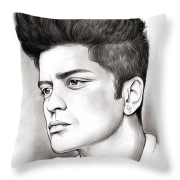 Bruno Mars Throw Pillow