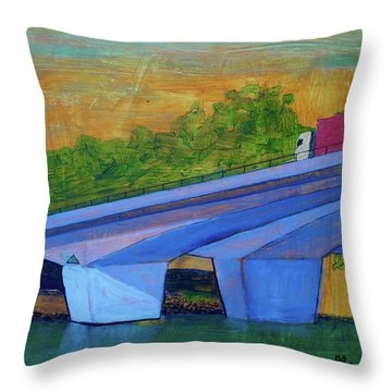 Brunswick River Bridge Throw Pillow