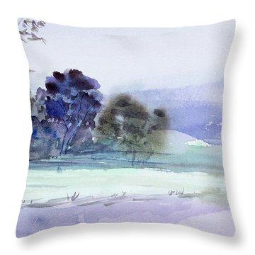 Bruny Island At Dusk Throw Pillow