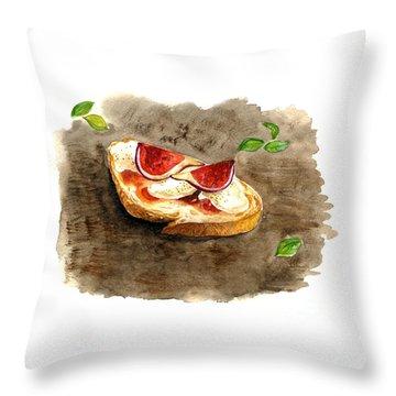 Bruschette Con Fichi Throw Pillow