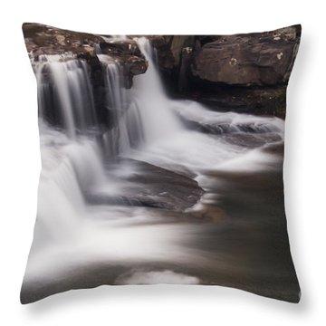 Brush Creek Falls Throw Pillow by Mel Petrey