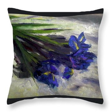 Brush Flowers #1 Throw Pillow by Brian Kardell