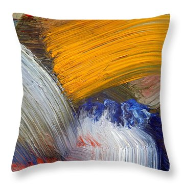 Brush Strokes Throw Pillow by Michal Boubin