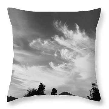 Brush Strokes Throw Pillow by Russell Keating