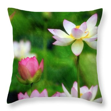 Throw Pillow featuring the photograph Brushed Lotus by Edward Kreis