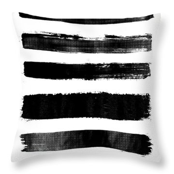 Brushstrokes Throw Pillow
