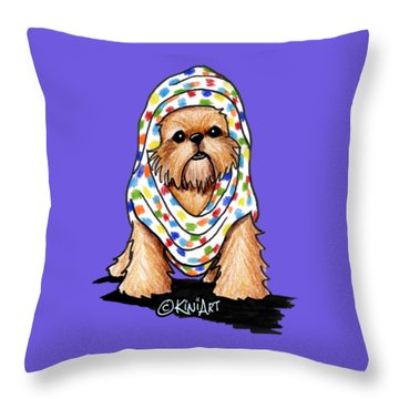 Brussels Griffon Beauty Throw Pillow by Kim Niles