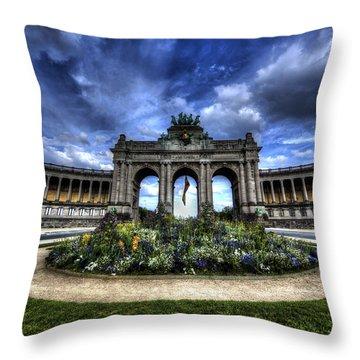 Brussels Parc Du Cinquantenaire Throw Pillow by Shawn Everhart