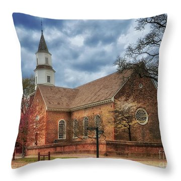 Bruton Parish Church Throw Pillow