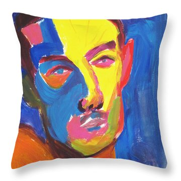 Bryan Portrait Throw Pillow by Shungaboy X