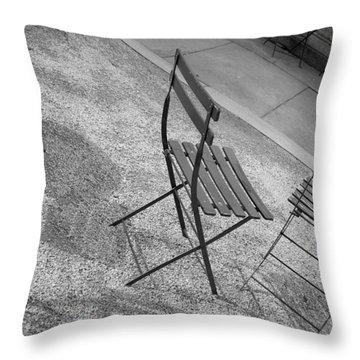 Bryant Park Nyc Throw Pillow by Henri Irizarri