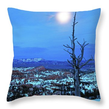 Bryce Blue Throw Pillow