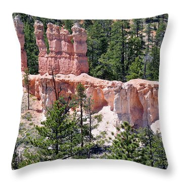 Throw Pillow featuring the photograph Bryce Canyon Backcountry by Bruce Gourley