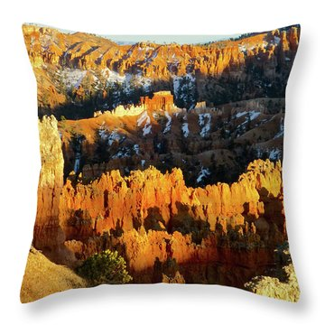 Bryce Canyon Hoodoos Evening Throw Pillow by Amelia Racca