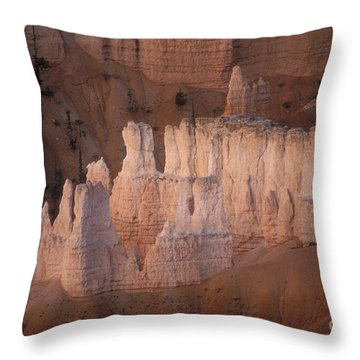 Bryce Canyon Hoodoos Throw Pillow by Sandra Bronstein