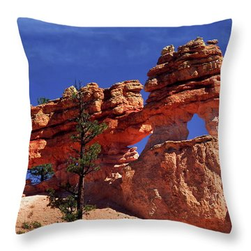 Bryce Canyon National Park Throw Pillow by Sally Weigand