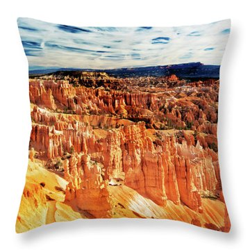Throw Pillow featuring the photograph Bryce Canyon Overlook by Norman Hall