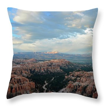 Throw Pillow featuring the photograph Bryce Canyon Skyview by Bruce Gourley