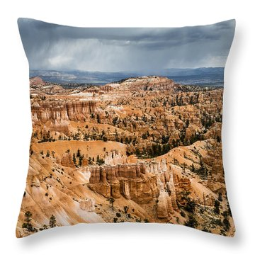 Bryce Canyon Storm Throw Pillow