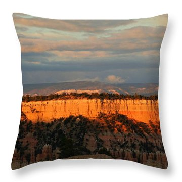 Bryce Canyon Sunset Throw Pillow by Laurel Talabere