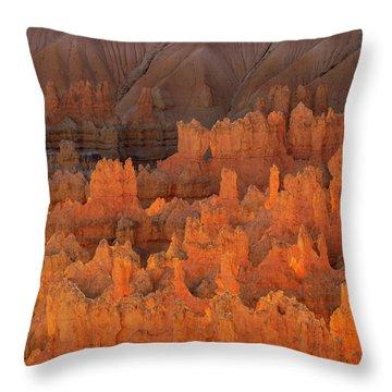 Bryce Hoodoos Throw Pillow