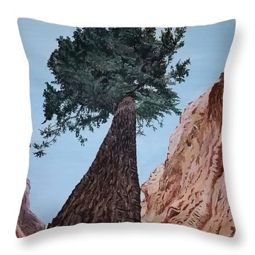 Throw Pillow featuring the painting Bryce Pine by Kevin Daly