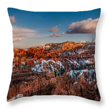 Bryce Sunset Throw Pillow