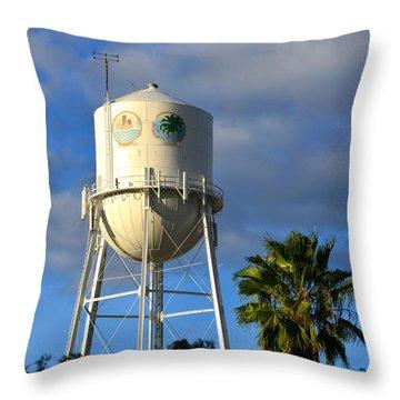 Bradenton Florida's Water Tower Throw Pillow