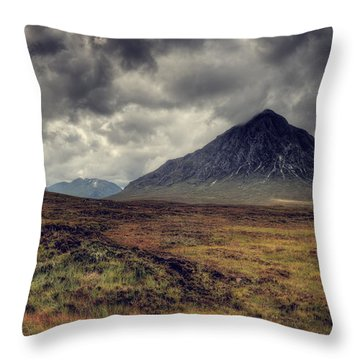 Buachaille Etiv Mor Throw Pillow by Ray Devlin