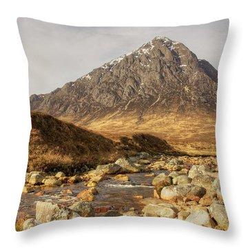 Buachaille Etive Mor II Throw Pillow