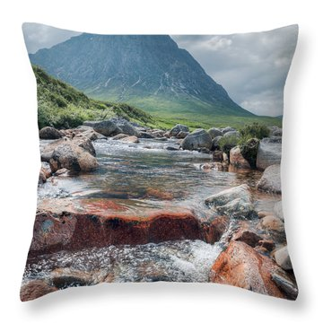 Buachaille Etive Mor Throw Pillow by Ray Devlin