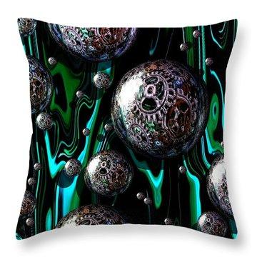 Bubble Abstract 1e Throw Pillow
