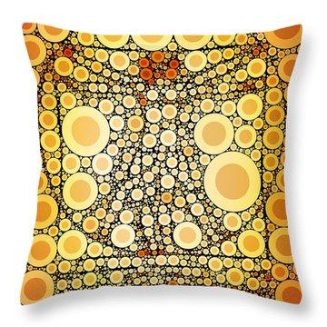 Bubble Art Da Vinci Throw Pillow