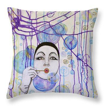 Bubble Dreams Throw Pillow