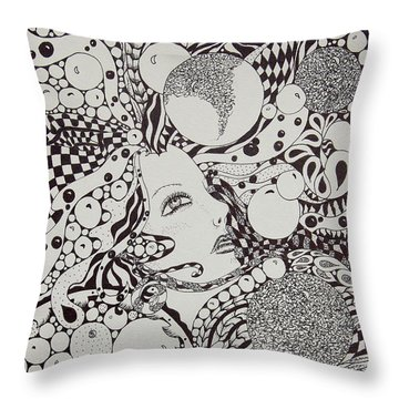 Bubble Flight Throw Pillow