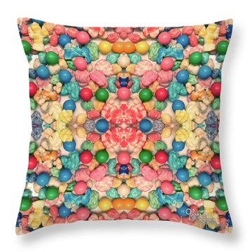Throw Pillow featuring the digital art Bubble Gum #9776 by Barbara Tristan