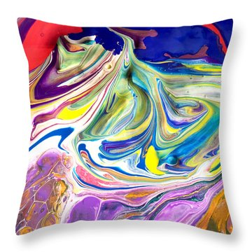 Bubble Gum Ice Cream Throw Pillow