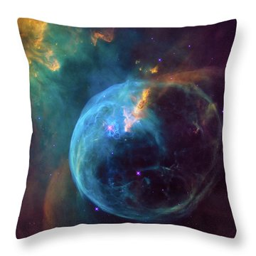 Throw Pillow featuring the photograph Bubble Nebula by Marco Oliveira